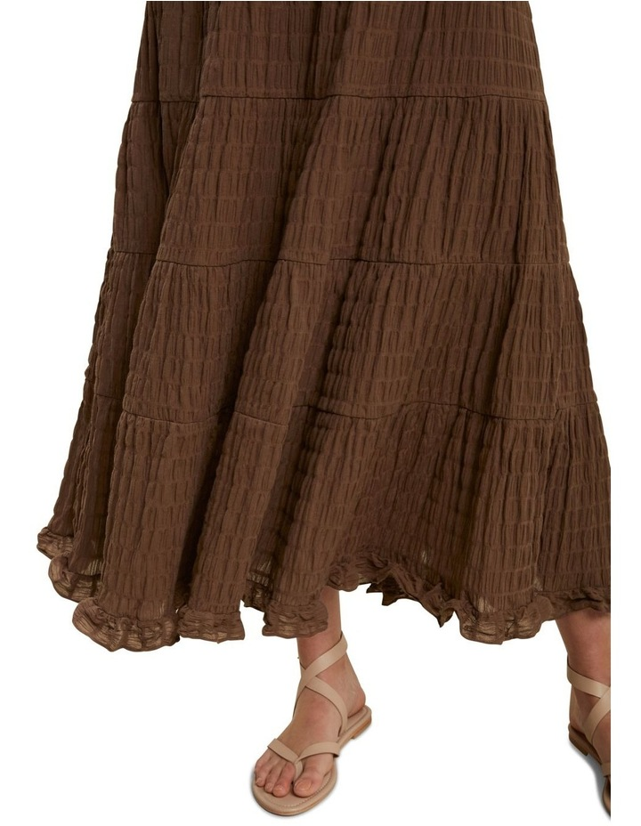 Textured Tiered Maxi Skirt image 4