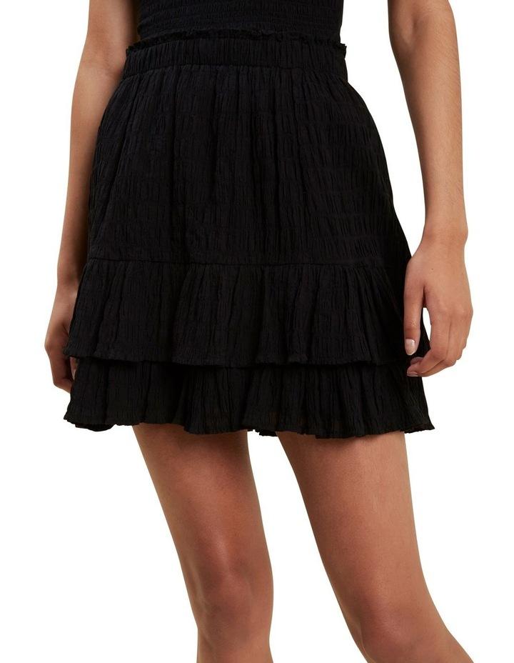 Textured Ruffle Mini Skirt image 1