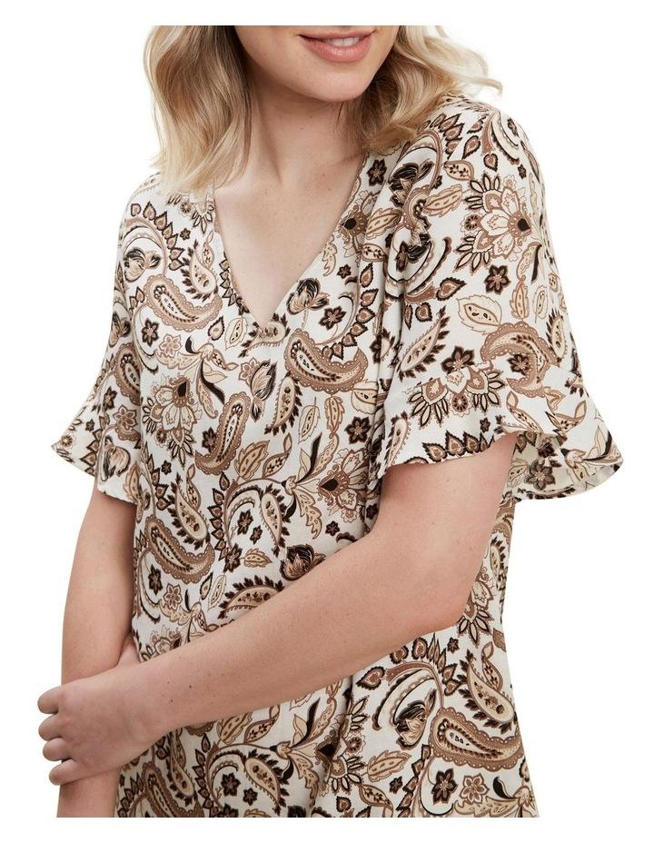 Paisley Flutter Dress image 4