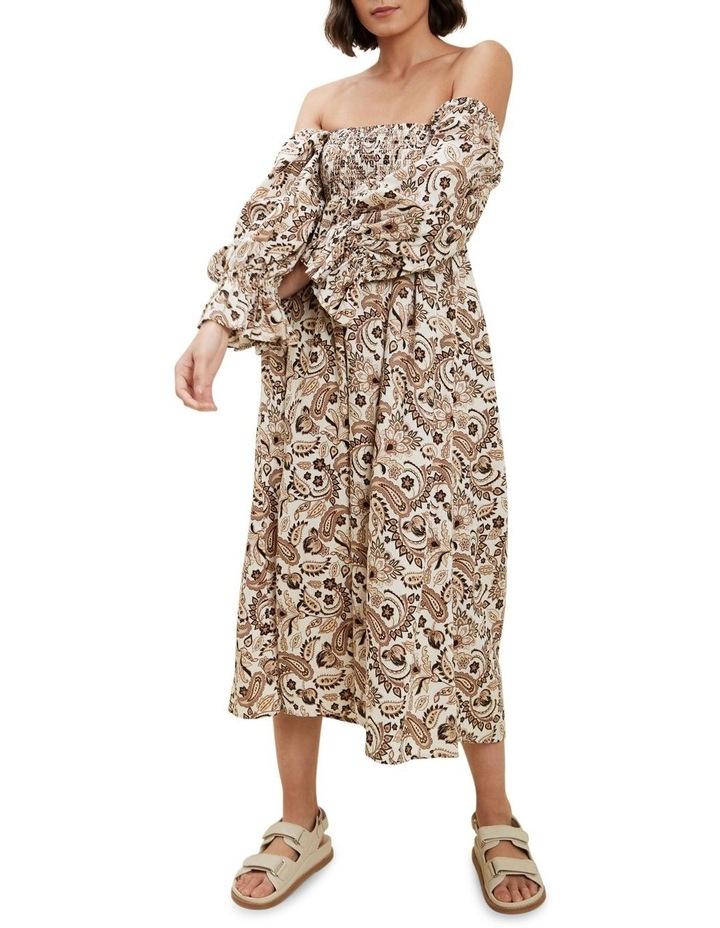 Paisley Puff Sleeve Dress image 2