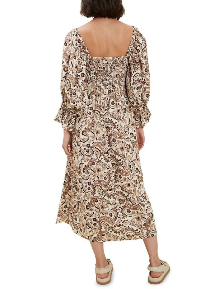 Paisley Puff Sleeve Dress image 3