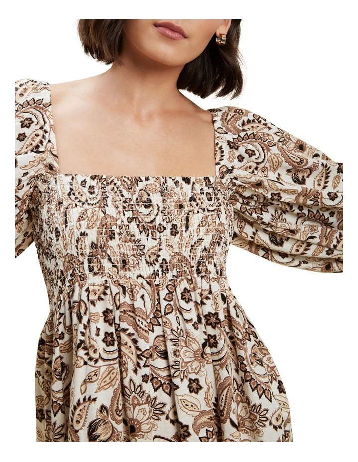 Paisley Puff Sleeve Dress image 4