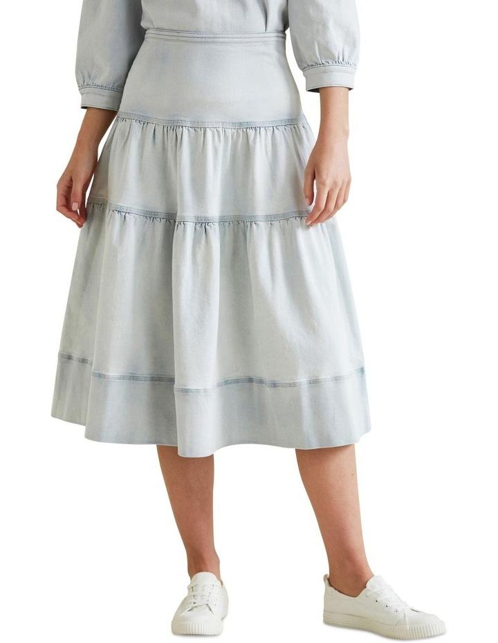 Tiered Denim Skirt image 1