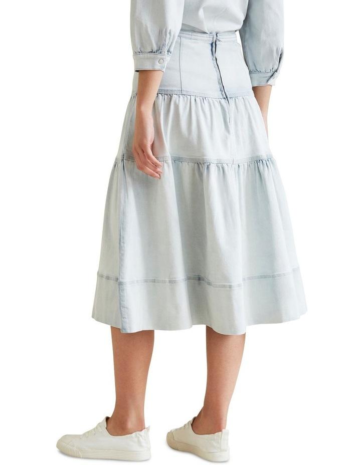 Tiered Denim Skirt image 3