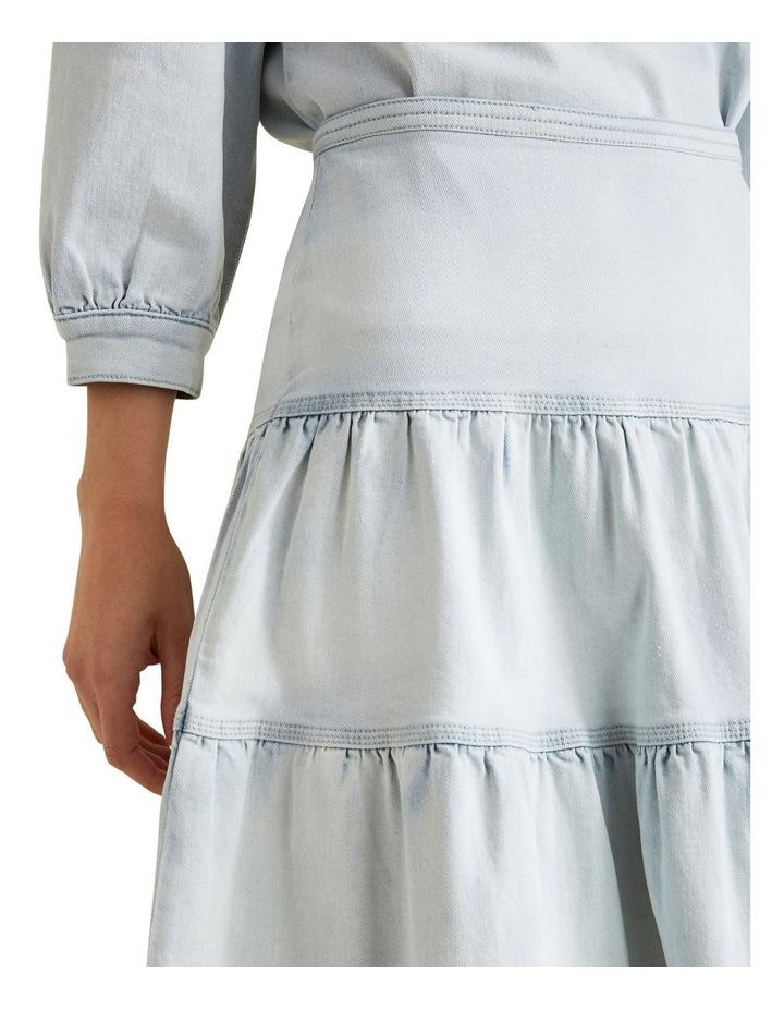 Tiered Denim Skirt image 4