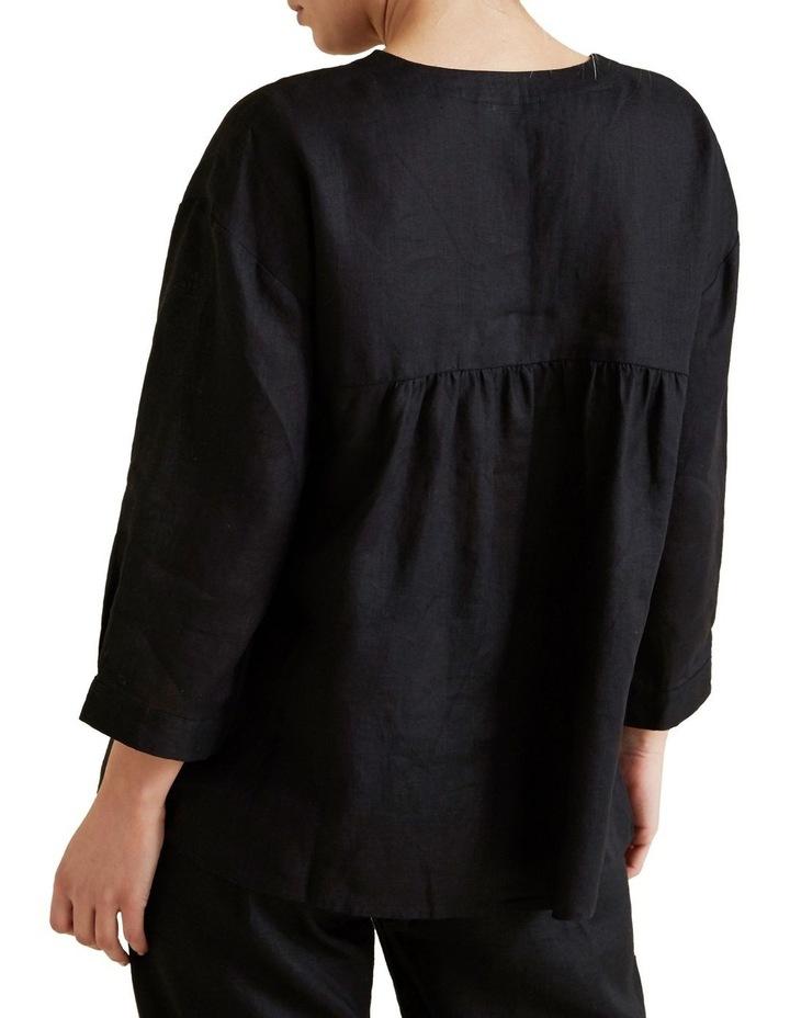 V Neck Linen Blouse image 3