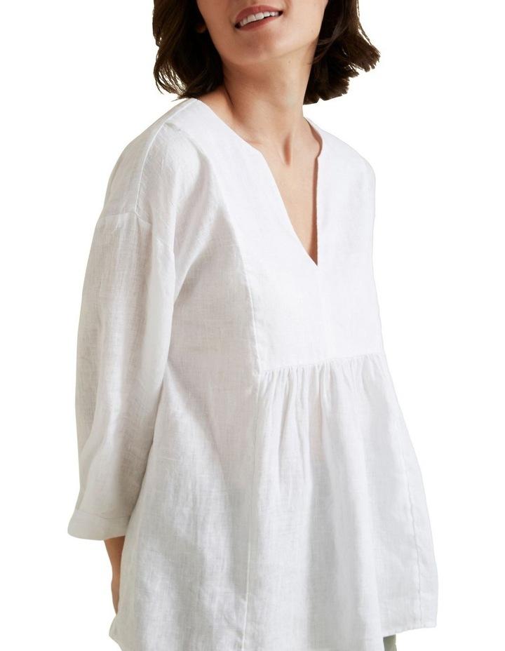 V Neck Linen Blouse image 4