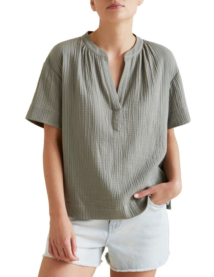 Cheesecloth Relaxed Shirt image 1