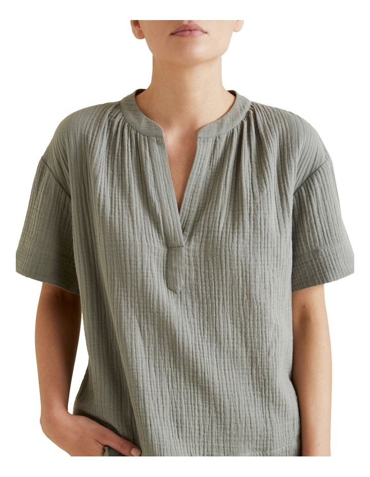 Cheesecloth Relaxed Shirt image 4