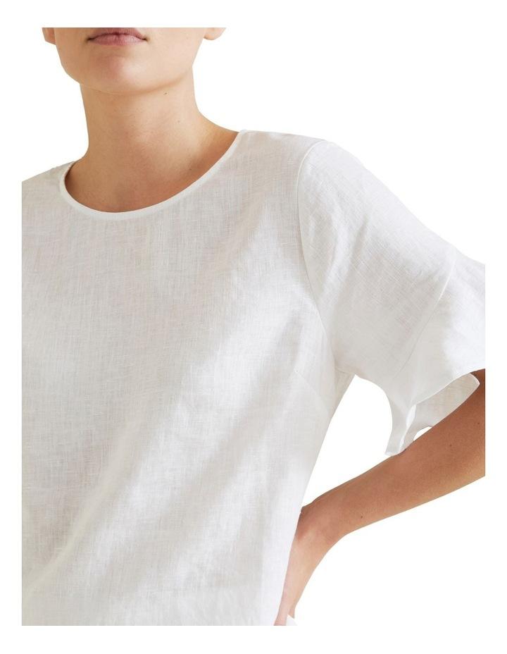 Flutter Sleeve Linen Top image 4