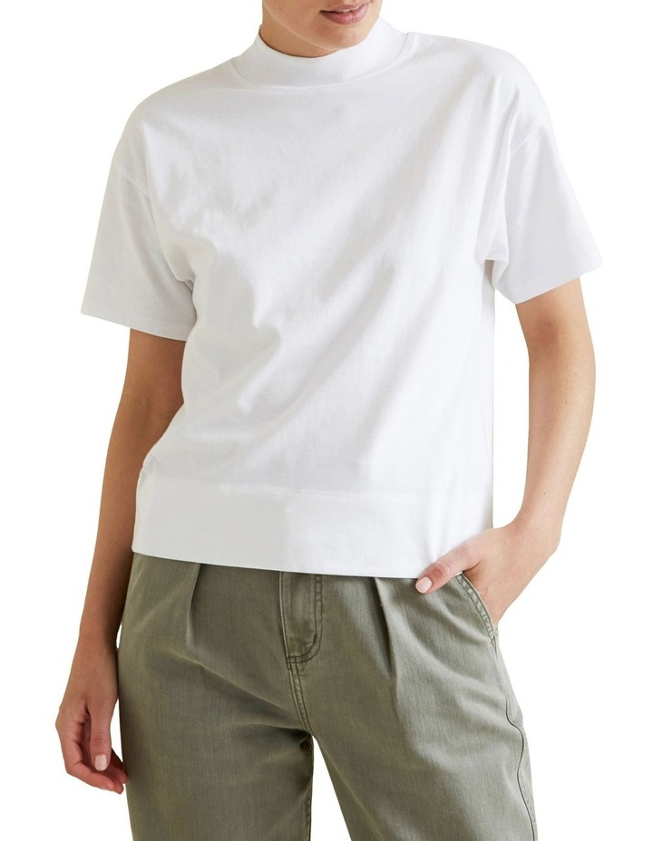 High Neck Jersey Top image 1