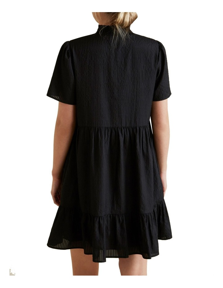 Gathered High Neck Dress image 3