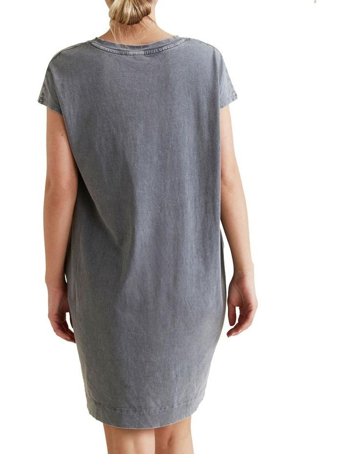 Acid Wash Tee Dress image 3