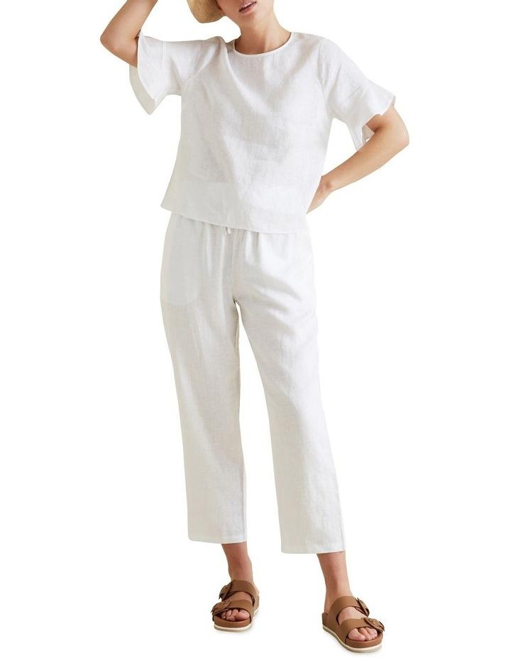 Linen Tie Up Pants image 2