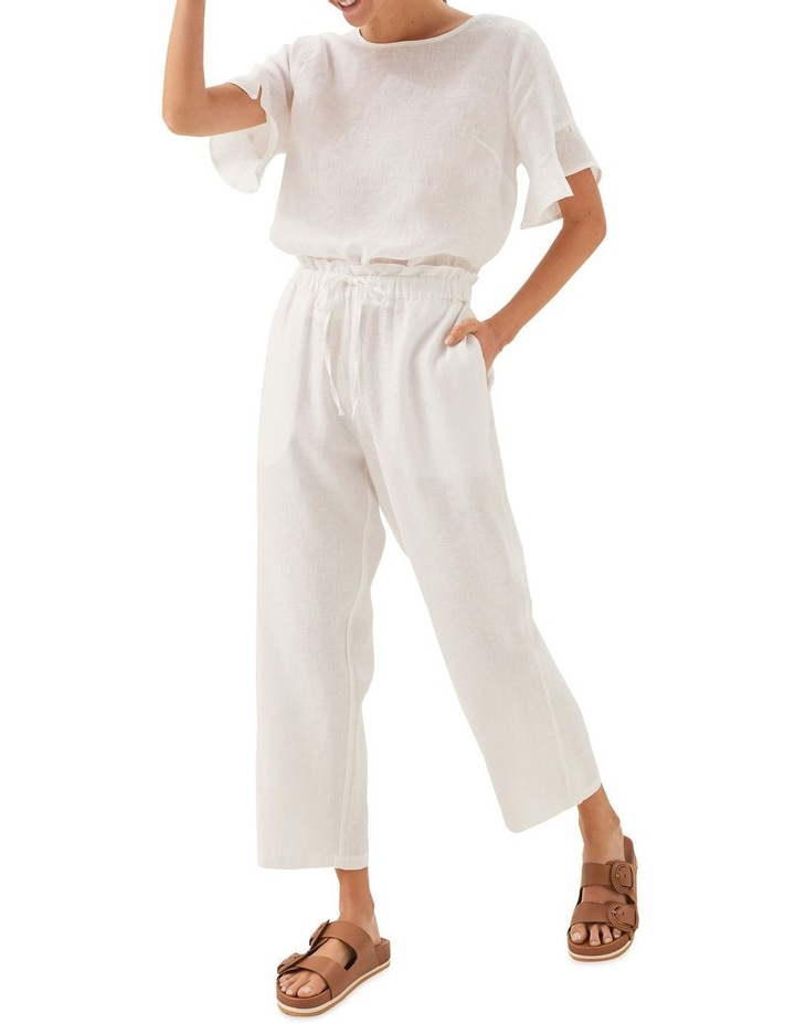 Linen Tie Up Pants image 5