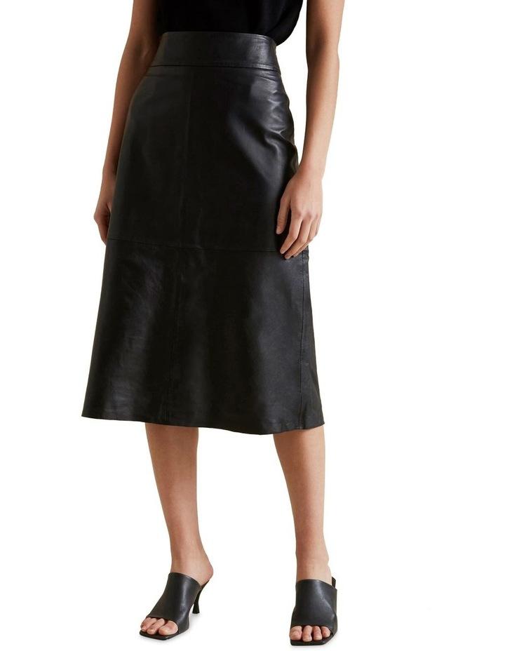 Leather Midi Skirt image 1