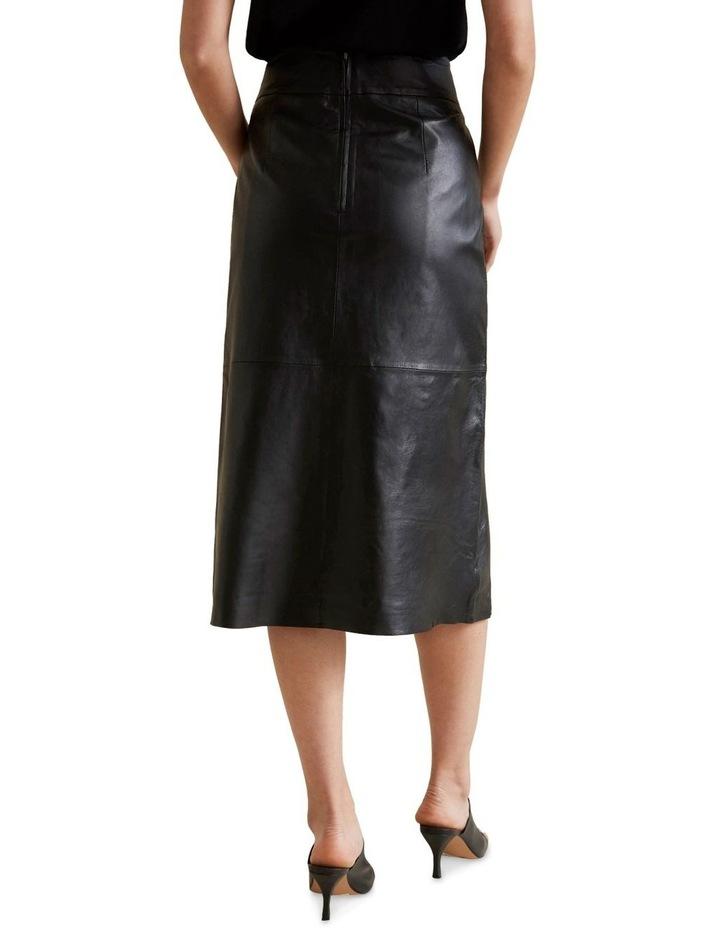 Leather Midi Skirt image 3