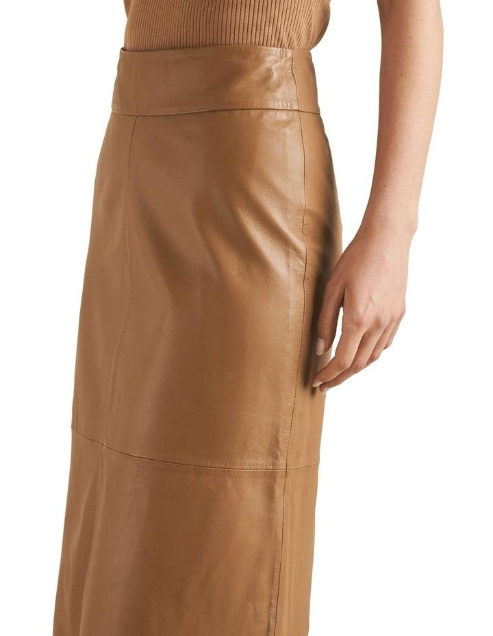 Leather Midi Skirt image 4