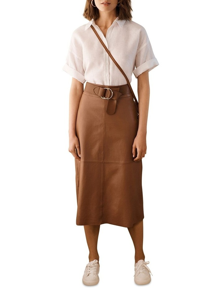 Leather Midi Skirt image 5