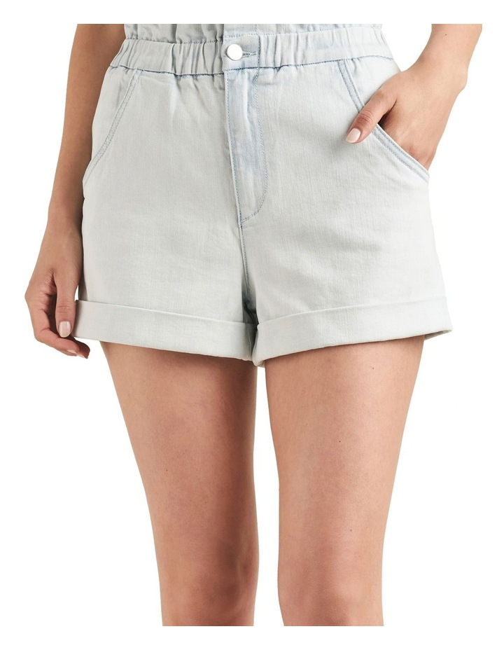 Denim Roll Up Short image 1