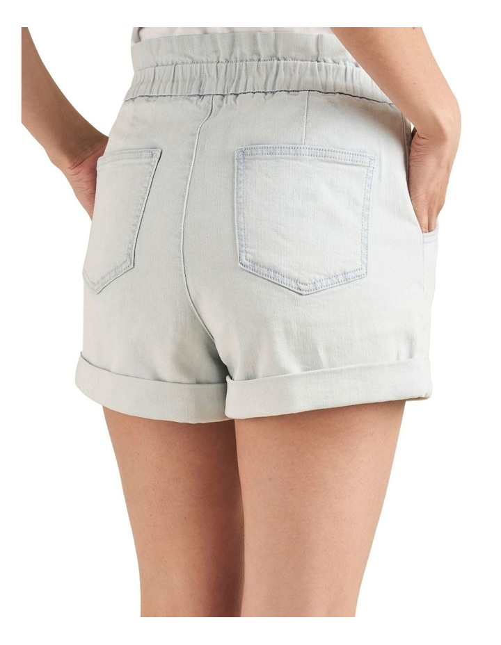Denim Roll Up Short image 3