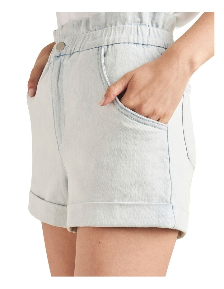 Denim Roll Up Short image 4