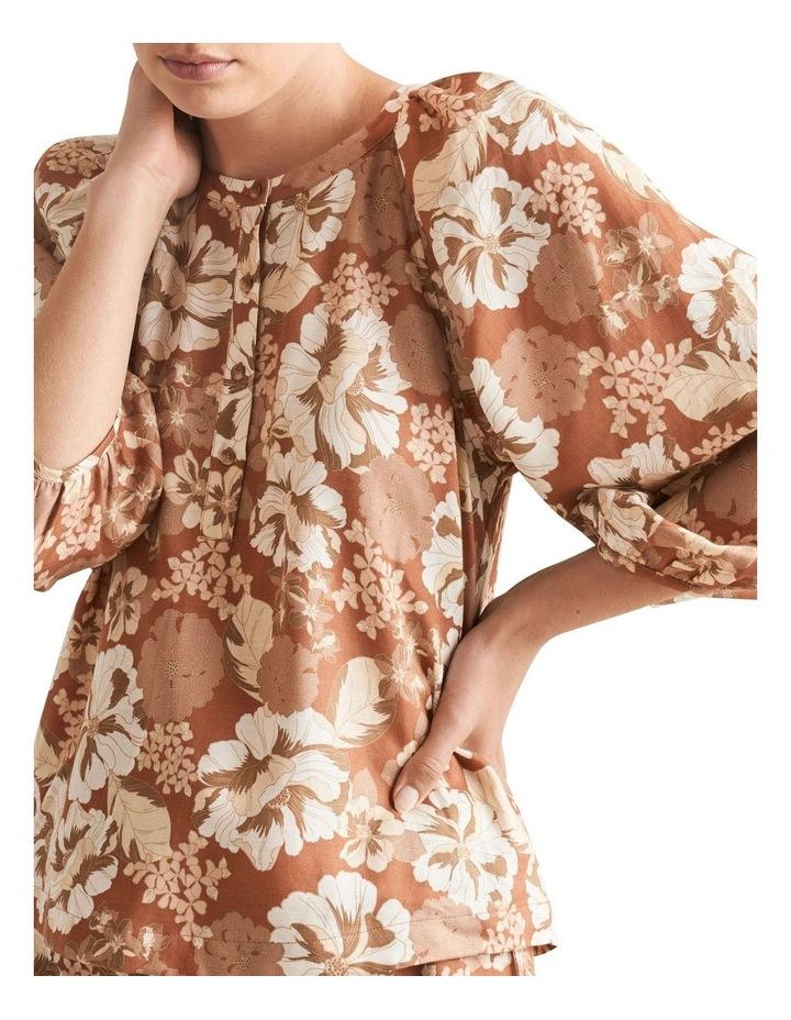 Linen Blend Floral Top image 4