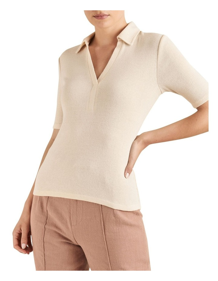Short Sleeve Collared Top image 1