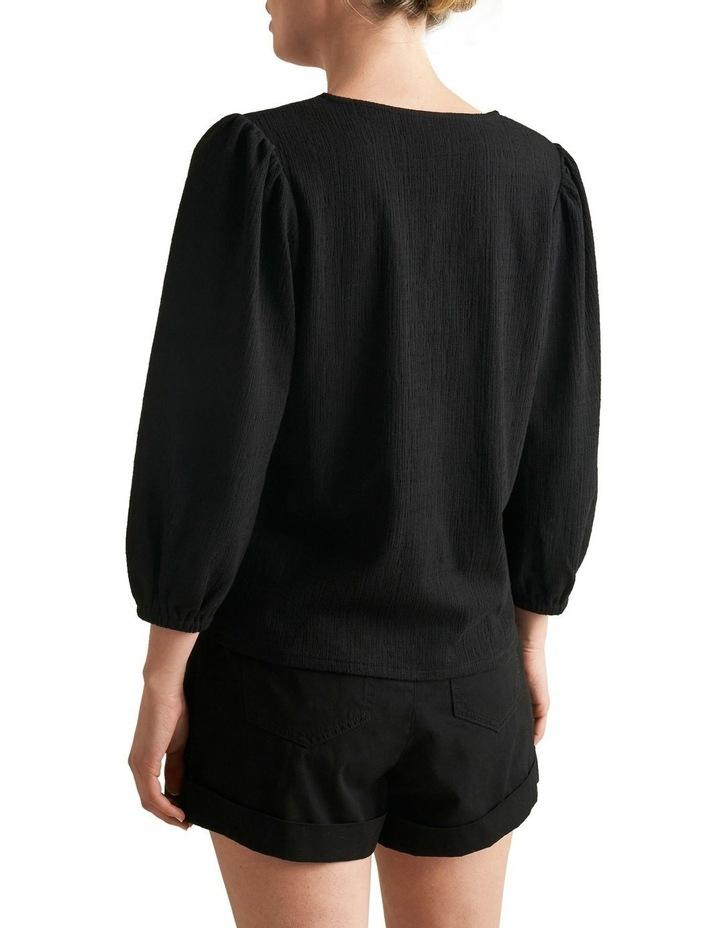 Textured Blouson Sleeve Top image 3