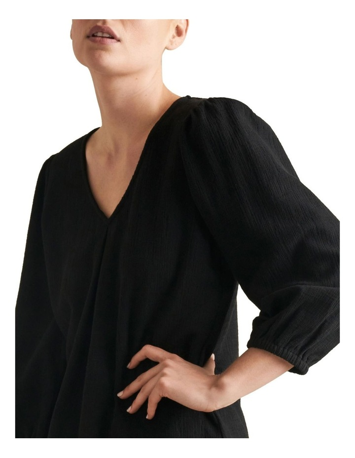 Textured Blouson Sleeve Top image 4