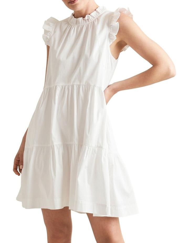 Ruffle Sleeve Cotton Dress image 1