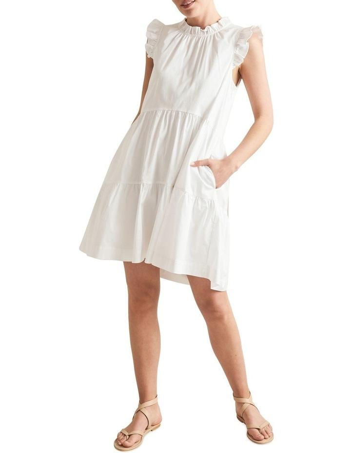 Ruffle Sleeve Cotton Dress image 2