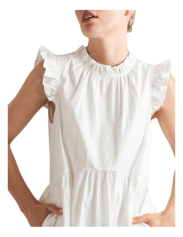 Ruffle Sleeve Cotton Dress image 4