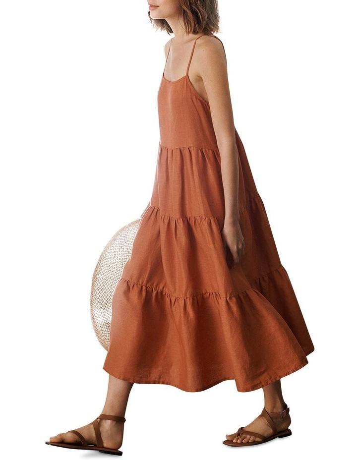 Tiered Linen Dress image 5