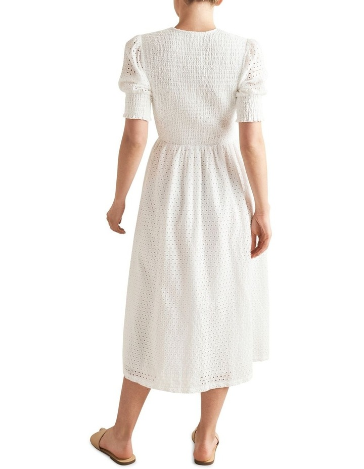 Embroidered Shirred Dress image 3