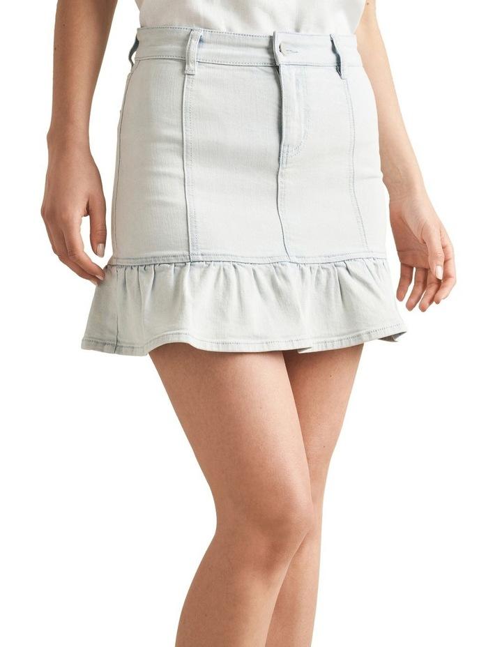 Frill Hem Denim Skirt image 1