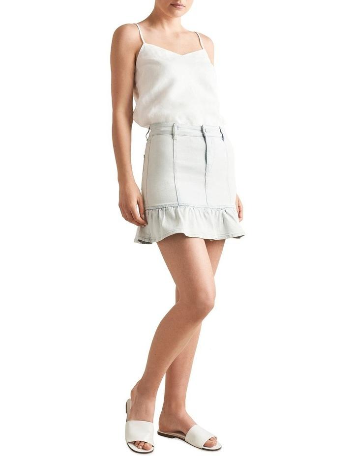 Frill Hem Denim Skirt image 2