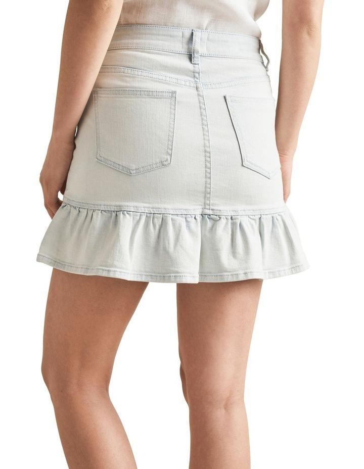 Frill Hem Denim Skirt image 3