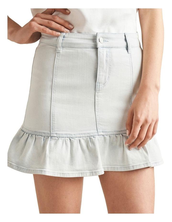 Frill Hem Denim Skirt image 4