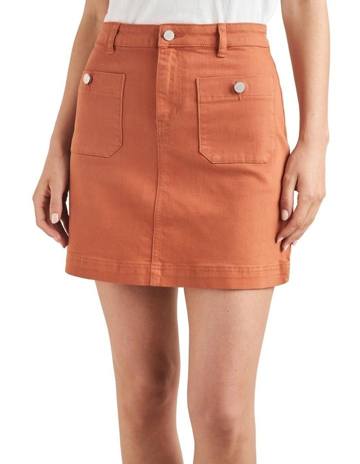 Stitch Detail Mini Skirt image 1