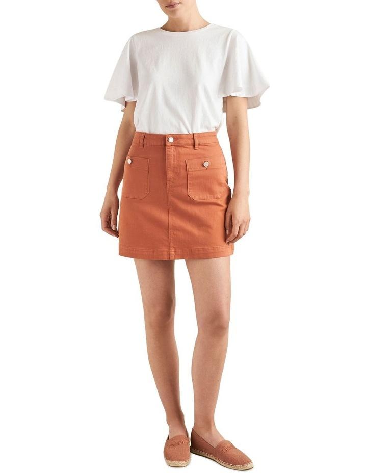 Stitch Detail Mini Skirt image 2
