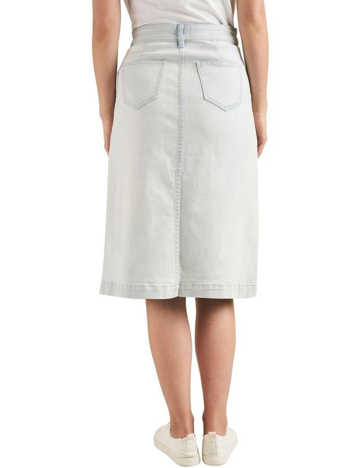 Midi A Line Denim Skirt image 3