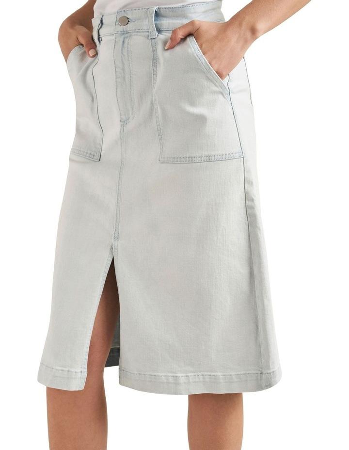 Midi A Line Denim Skirt image 4