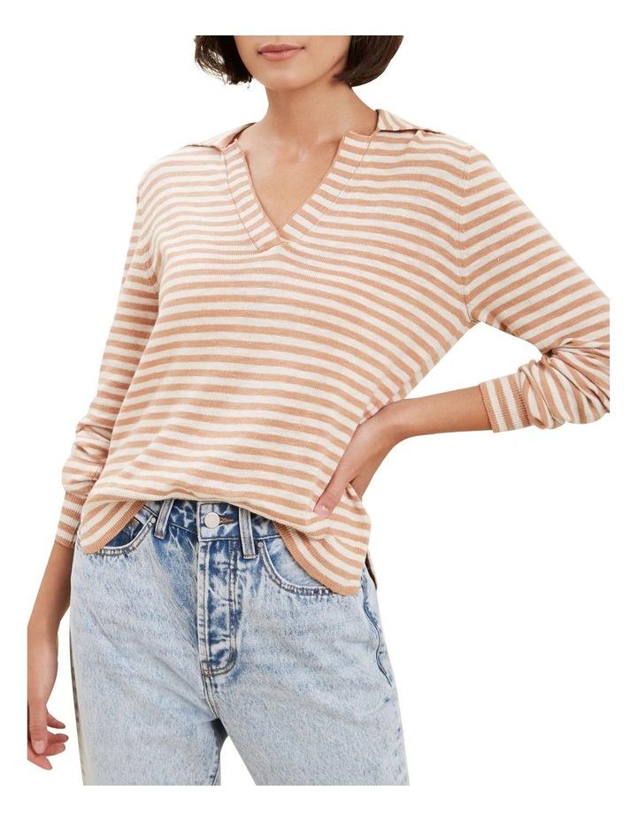 Stripe Knit Polo image 1