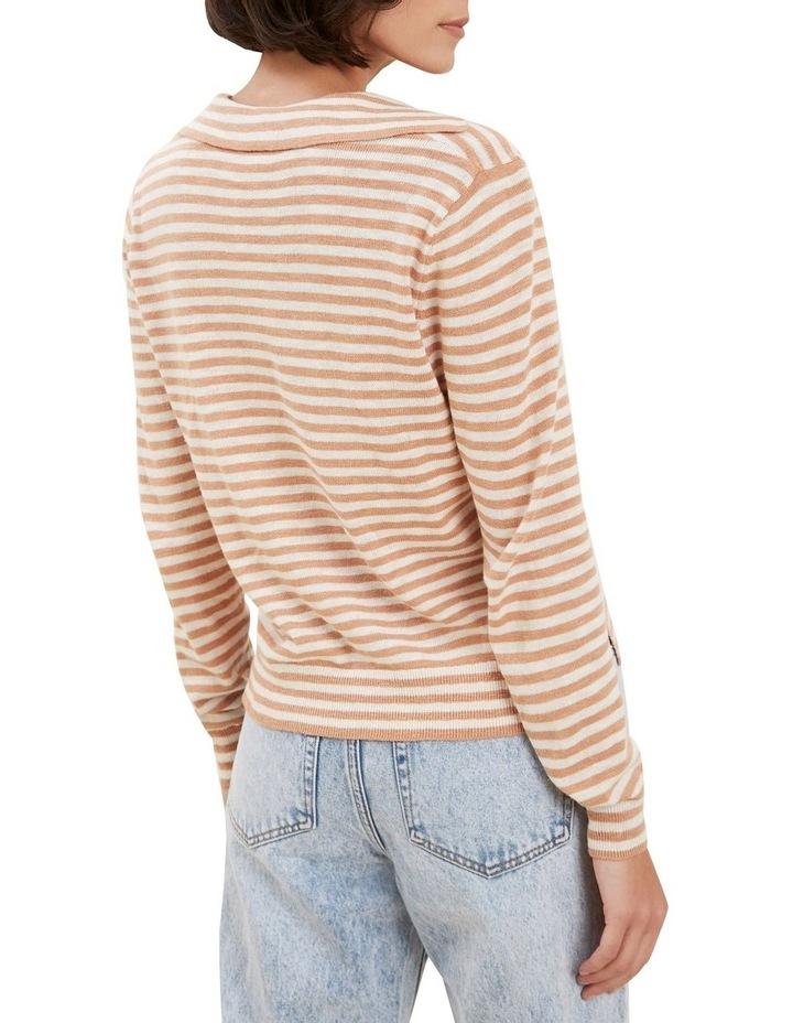 Stripe Knit Polo image 3