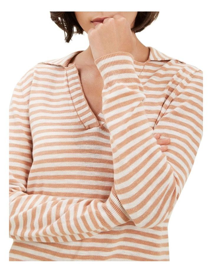 Stripe Knit Polo image 4
