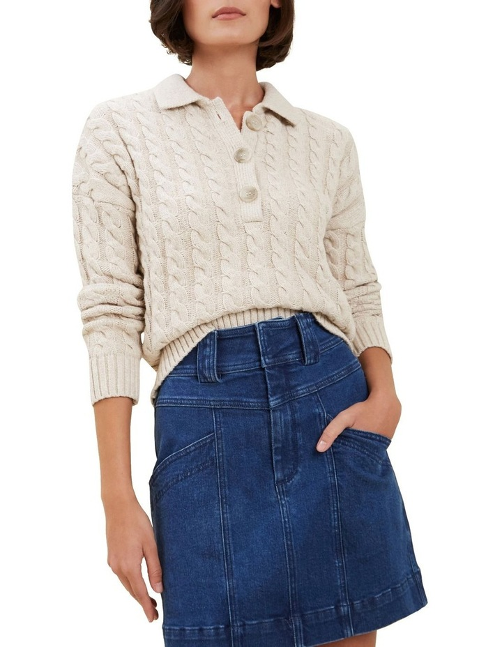 Cable Knit Polo Sweater image 1