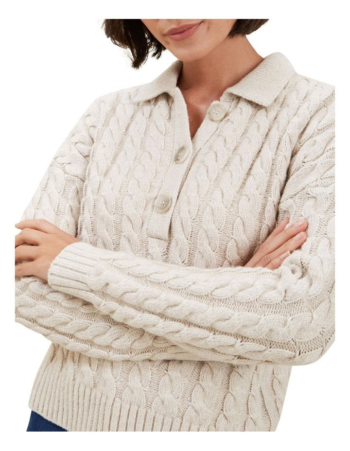 Cable Knit Polo Sweater image 4