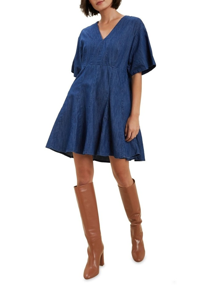 Chambray Mini Dress image 2