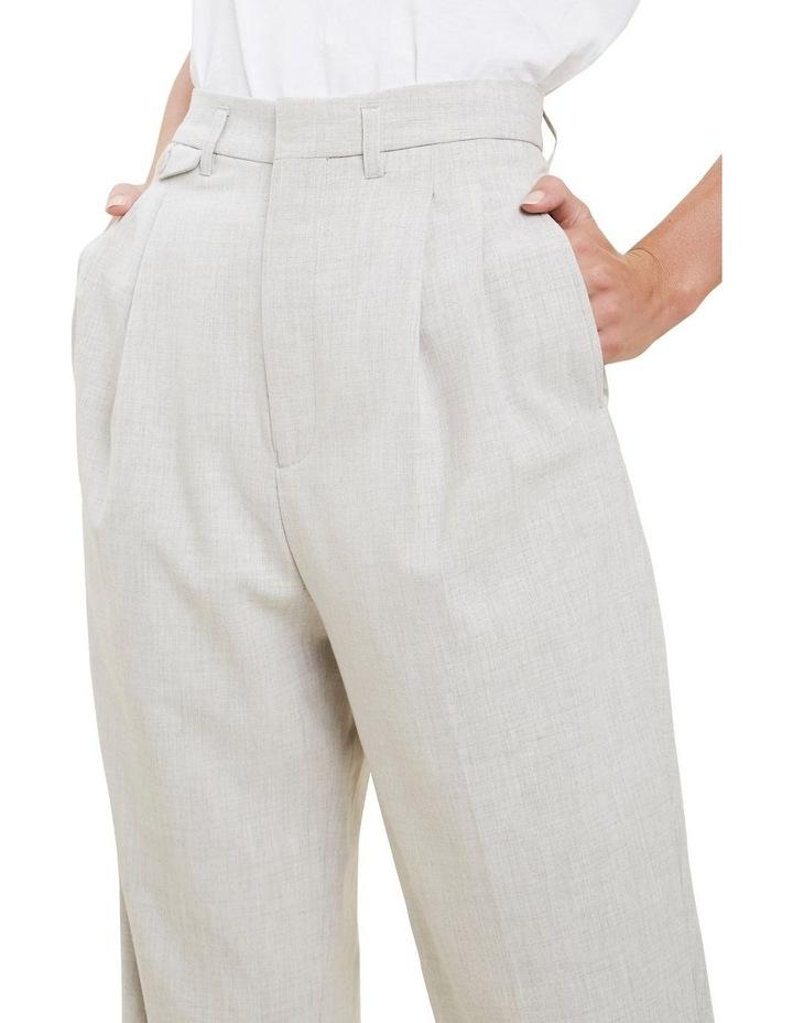 High Rise  Melange  Suit Pants image 4